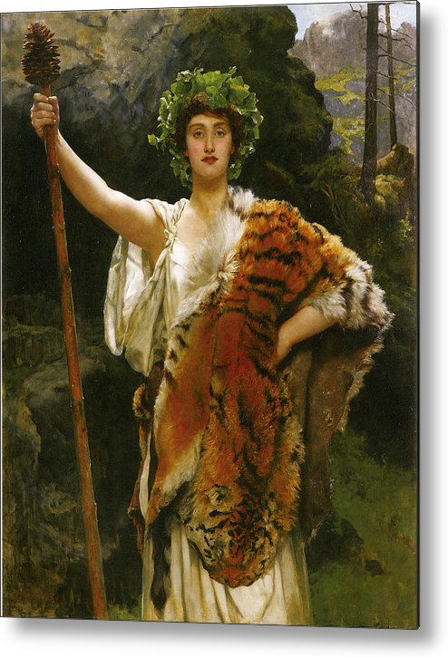 John Collier Metal Print featuring the digital art Priestess Bacchus by John Collier