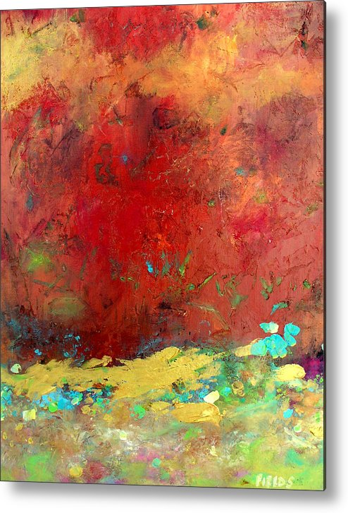 Organic Abstract Metal Print featuring the painting Experiences by Karen Fields