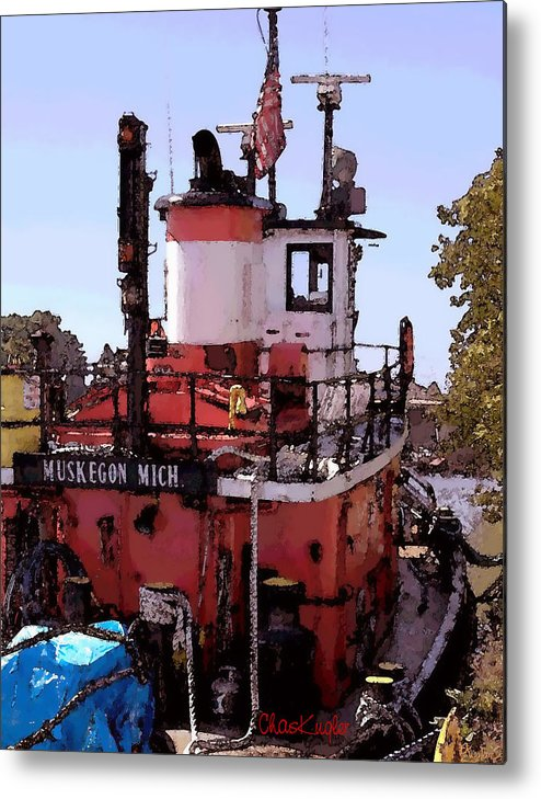 Nautical Metal Print featuring the photograph Muskegon Tug by Chuck Kugler