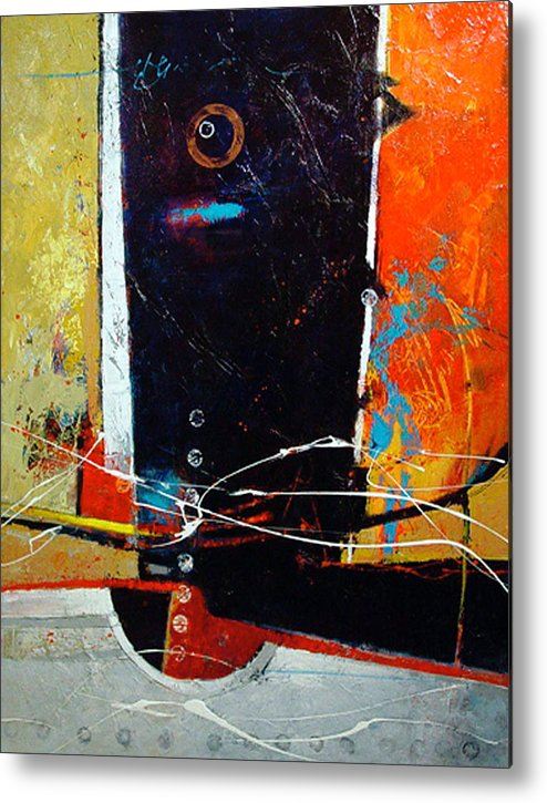 Abstract Metal Print featuring the painting Observatory by Dale Witherow