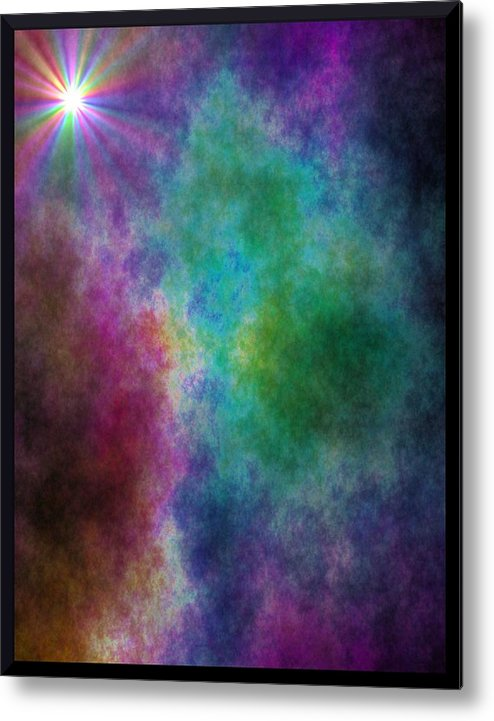 Metal Print featuring the digital art After The Storm by Lisa Johnston