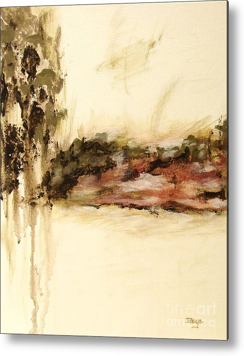Abstract Metal Print featuring the painting Ambiguous by Itaya Lightbourne