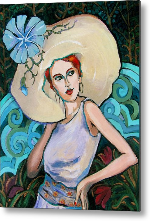 Portrait Metal Print featuring the painting Art Nouveau by Dianna Willman
