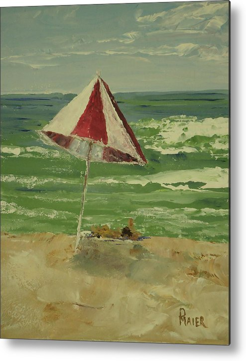 Seascape Metal Print featuring the painting Beach Day by Pete Maier