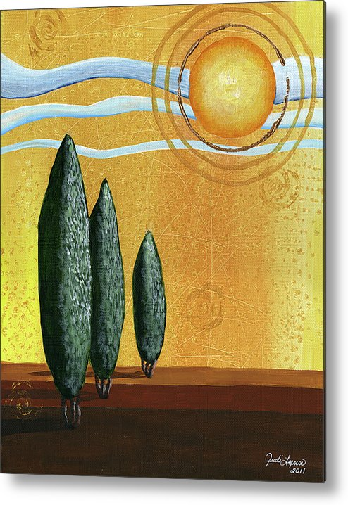 Acrylic Canvas Metal Print featuring the painting Better Days by The Art Of JudiLynn