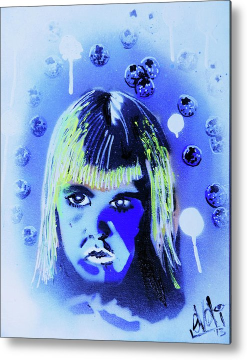 Cereal Killers Metal Print featuring the painting Cereal Killers - Boo Berry by eVol i