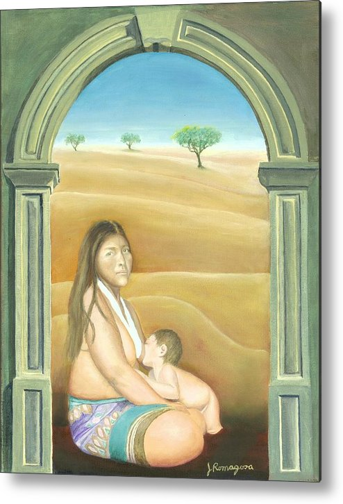 Nursing Metal Print featuring the painting Convent Dream by Juan Romagosa