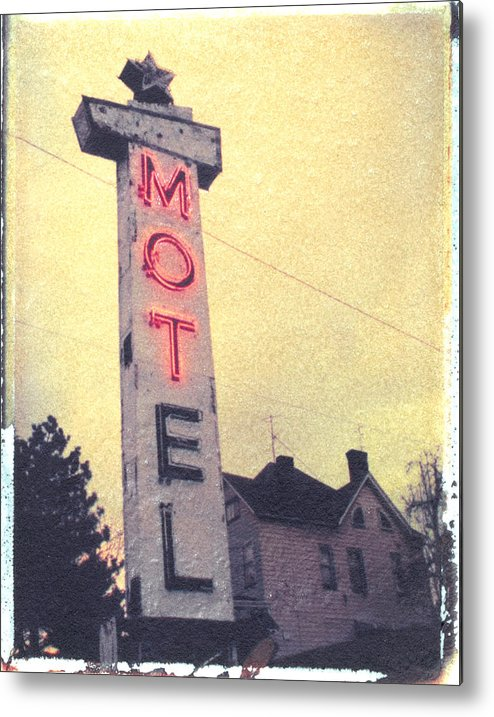 Polaroid Metal Print featuring the photograph Dying Neon by Steven Godfrey