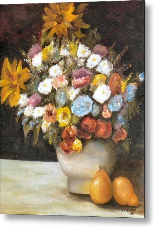 Flowers Metal Print featuring the painting Flowers After Renoir by Merle Blair