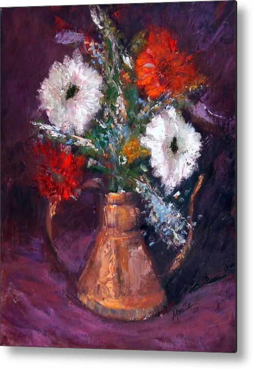 Gerber Daisy Metal Print featuring the painting Gerbers by Athena Mantle