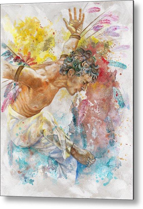 Man Metal Print featuring the painting Icarus by Rineke De Jong
