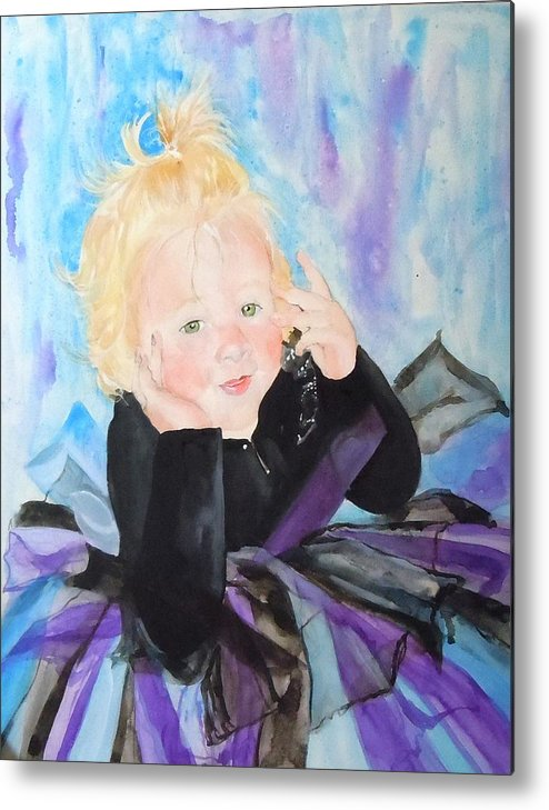 Child Metal Print featuring the painting Lily by Jean Blackmer