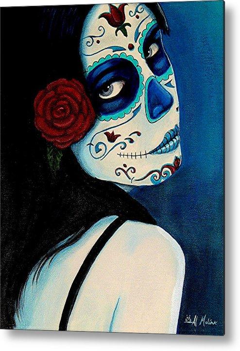 Fantasy Metal Print featuring the painting No Se Olvide De Mi by Al Molina