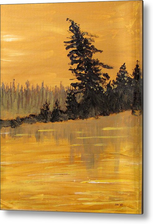 Northern Ontario Metal Print featuring the painting Northern Ontario Three by Ian MacDonald