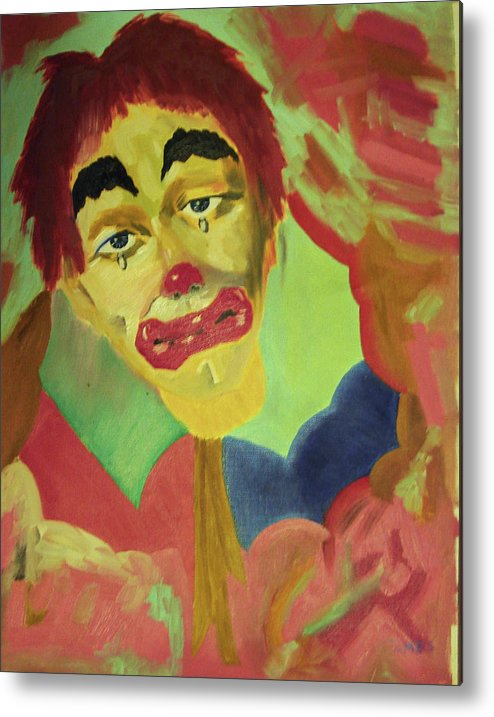 Metal Print featuring the painting Oh No by James Jones