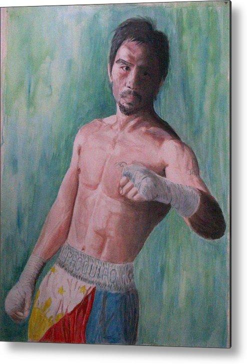 Boxing Metal Print featuring the painting Phenomenal. by SAIGON De Manila