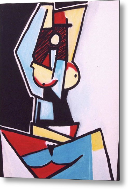 Picasso Metal Print featuring the painting Picasso by Thomas Valentine