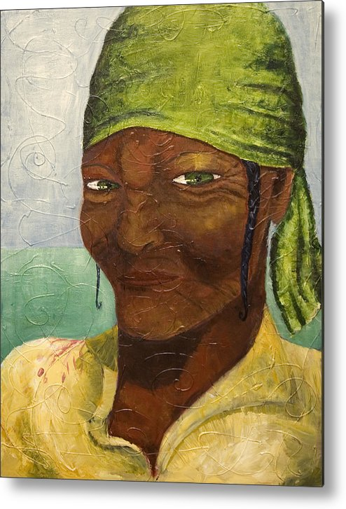 Portrait Metal Print featuring the painting Scorn by Michelle Key