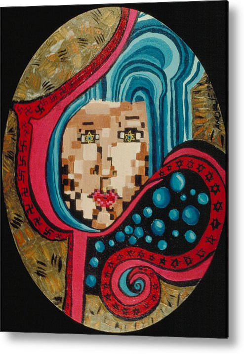 Jandrel Metal Print featuring the painting Self Portrait by J Andrel