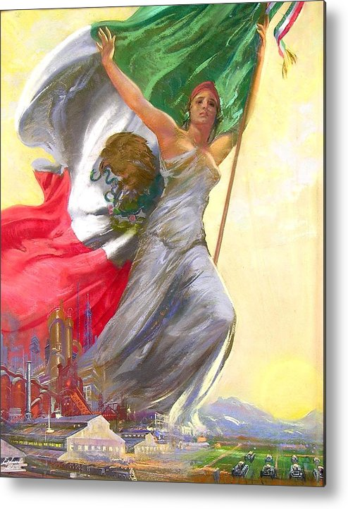 Mexico Metal Print featuring the painting Simepre Mas Que Ayer by Eduardo Catano
