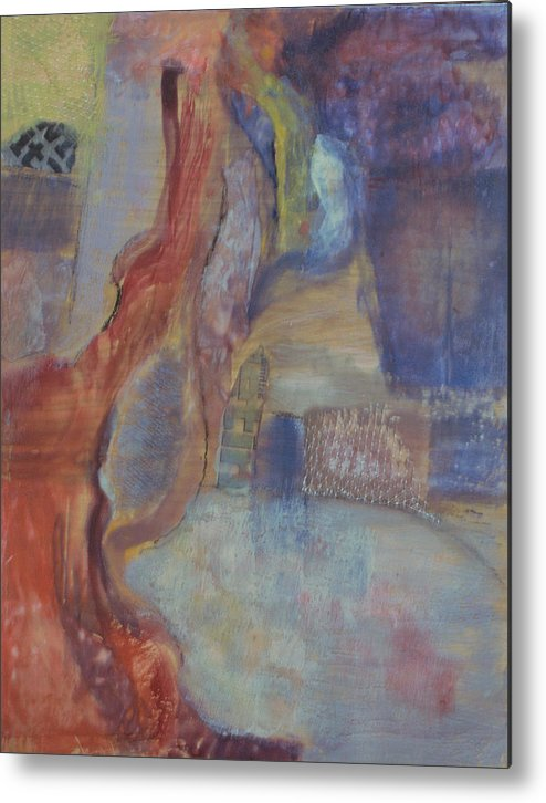 Abstract Metal Print featuring the painting Skate To Infinity by Kevin Stevens