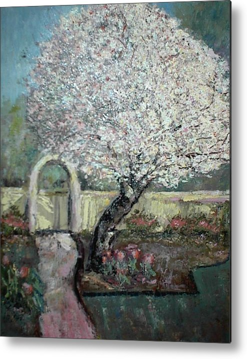 Tree Blooming Flowers Metal Print featuring the painting Spring by Helen Musser
