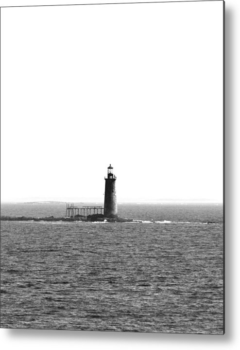 Black Metal Print featuring the photograph Standing Alone by Becca Brann