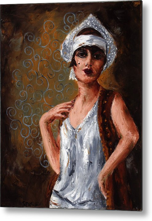 Woman Metal Print featuring the painting Stella by Robin DeLisle