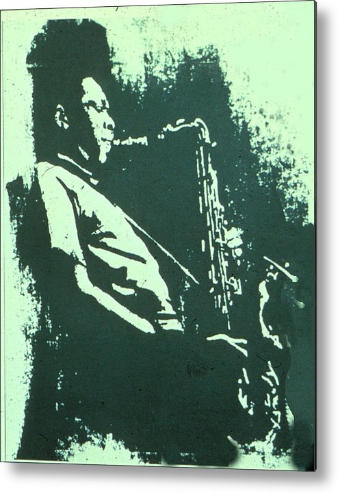 Jazz Metal Print featuring the mixed media The Session by Neal Smith-Willow