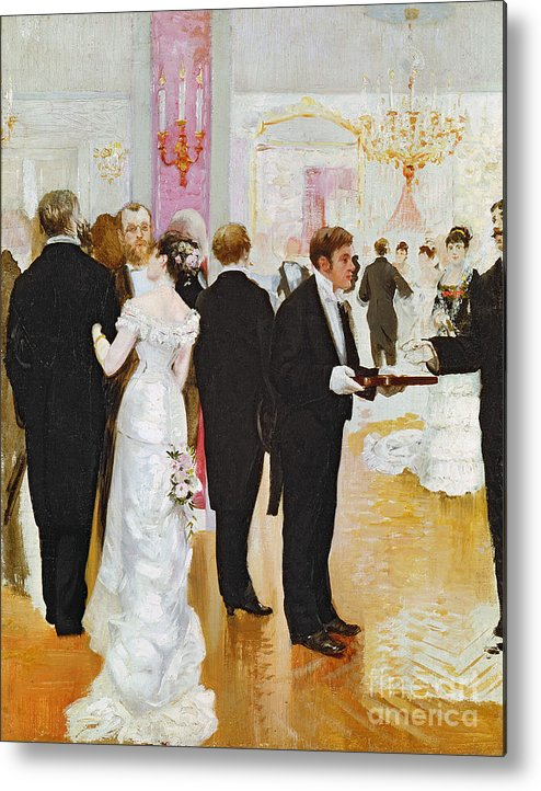 The Wedding Reception Metal Print featuring the painting The Wedding Reception by Jean Beraud
