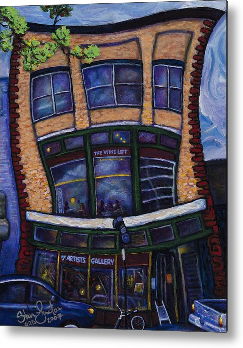 Landscape Metal Print featuring the painting The Wine Loft by Steve Lawton