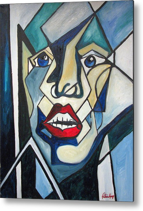 Abstract Metal Print featuring the painting Tortured by Patricia Arroyo