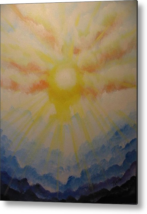 Waves Metal Print featuring the painting Waves Of Glory by Laurie Kidd