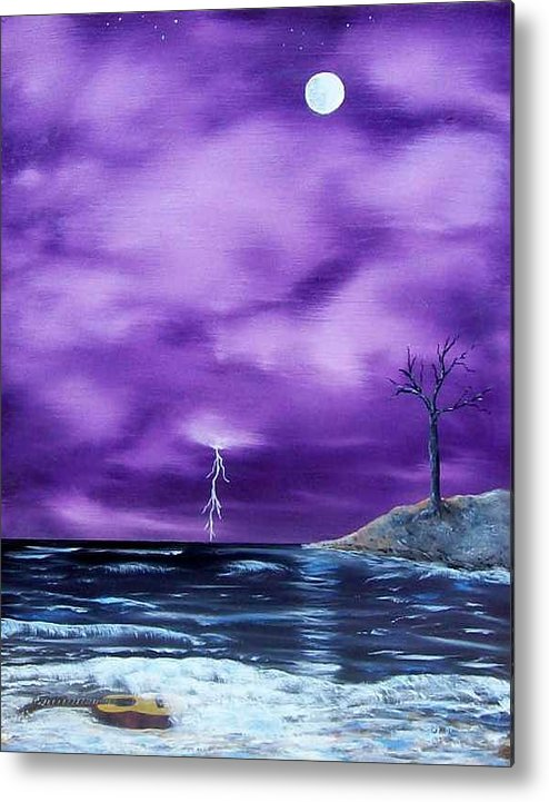 Surrealism Metal Print featuring the painting Wet Guitar by Tony Rodriguez