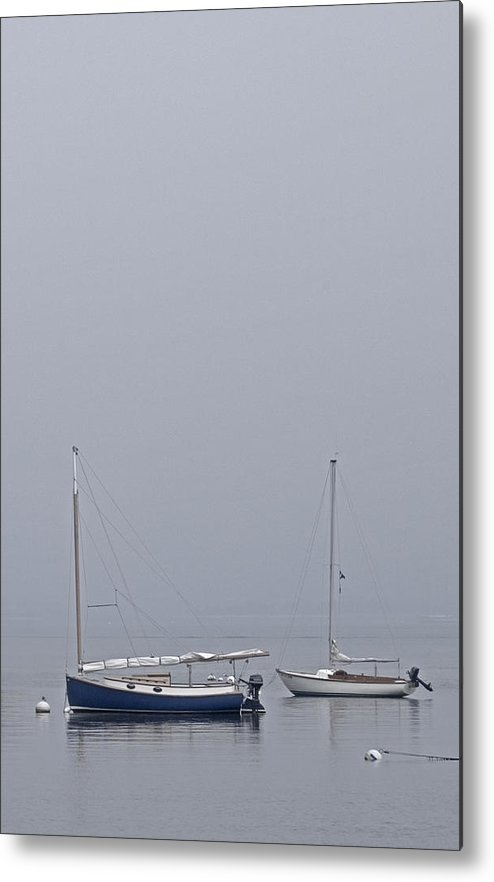 Boat Metal Print featuring the photograph Catboat And Sloop - Nantucket Harbor by Henry Krauzyk