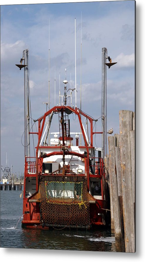 Commercial Fishing Boats Metal Print featuring the photograph Vessel 60 by Joyce StJames