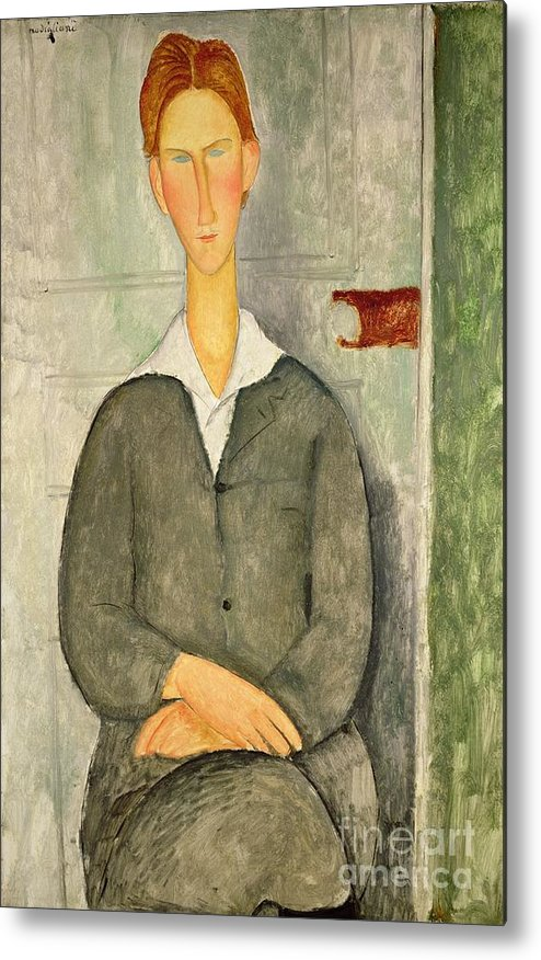Young Metal Print featuring the painting Young Boy With Red Hair by Amedeo Modigliani