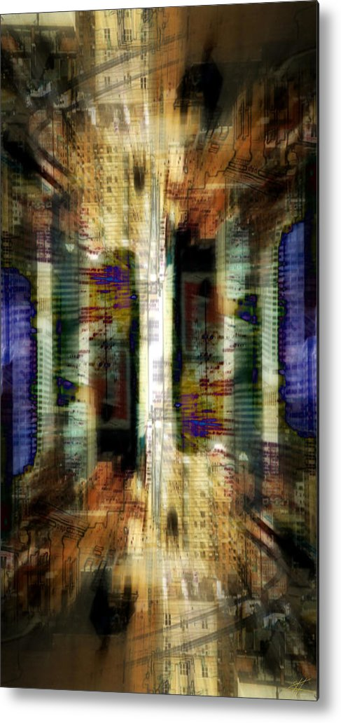 Abstract Metal Print featuring the digital art Cityscape by Kenneth Armand Johnson