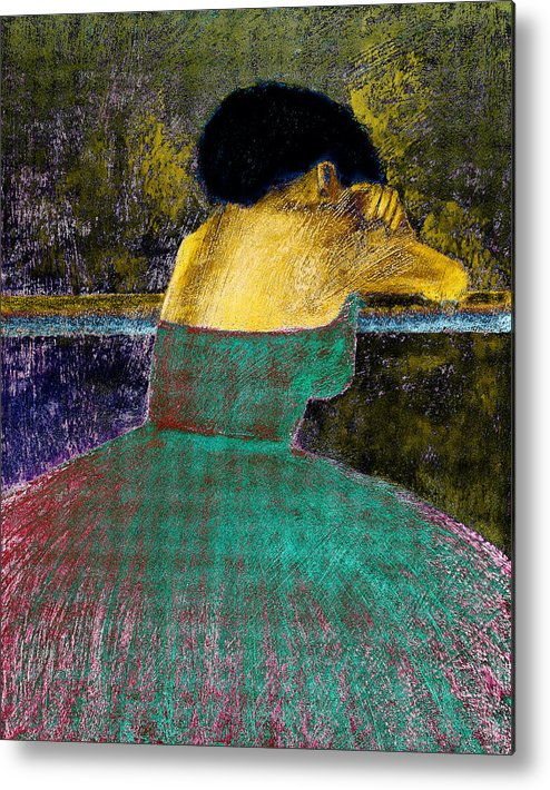 Impressionistic Metal Print featuring the digital art After The Dance by David Patterson