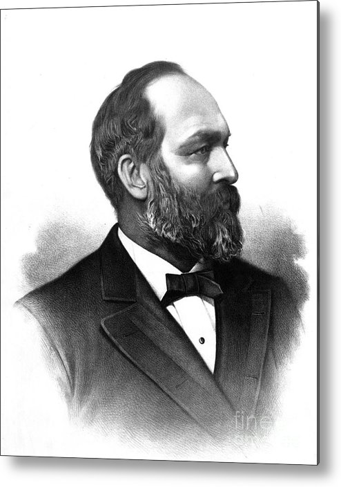 Government Metal Print featuring the photograph James A. Garfield, 20th American by Photo Researchers