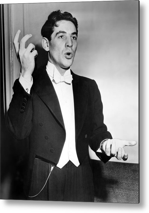 1950s Metal Print featuring the photograph Leonard Bernstein 1918-1990 American by Everett