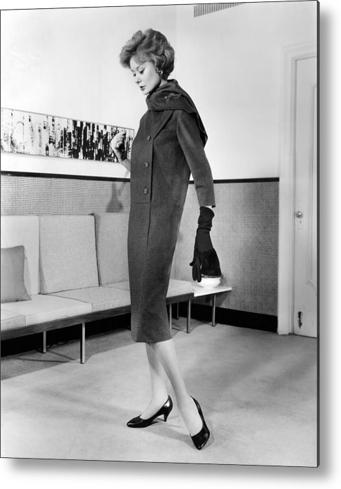 History Metal Print featuring the photograph Below-the-knee Trapezoid Dress by Everett