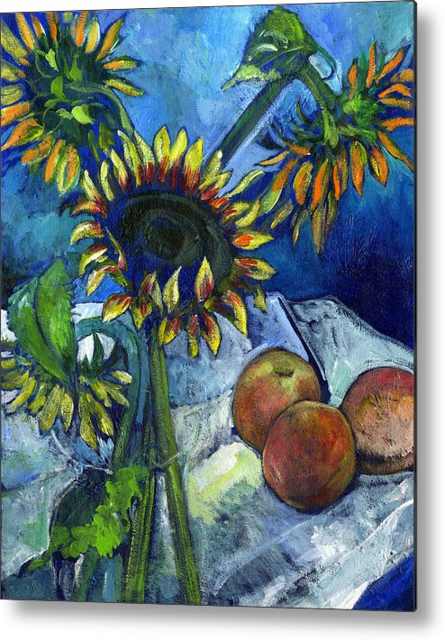 Sunflowers Metal Print featuring the painting From The Farmer's Market by Carol Mangano