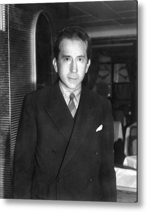 1950s Metal Print featuring the photograph J. Paul Getty, Ca. 1957 by Everett