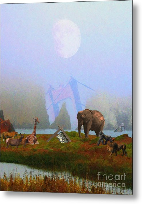 Wingsdomain Metal Print featuring the photograph The Day After Armageddon At The San Francisco Zoo by Wingsdomain Art and Photography