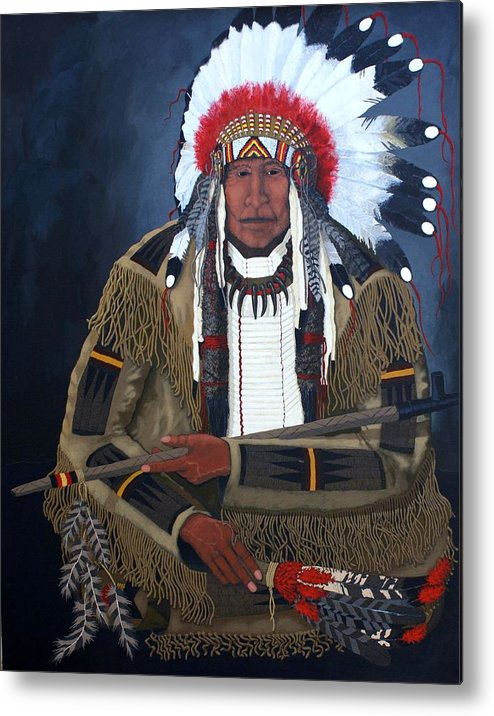 Realism Metal Print featuring the painting A Time For Peace by Bernard Goodman