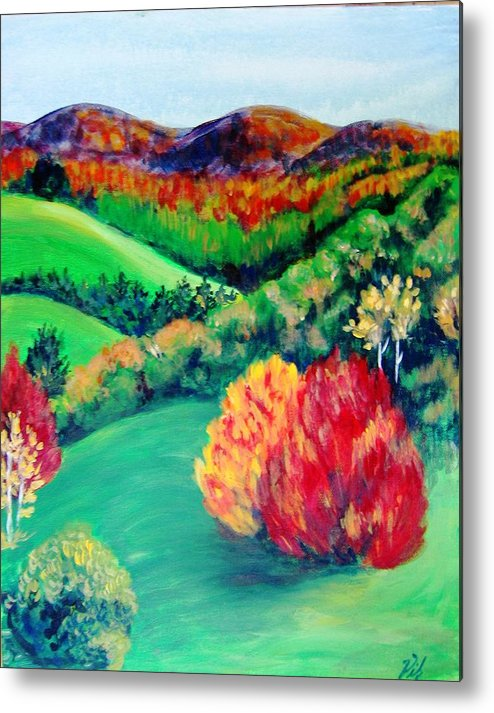 Happy Valley Metal Print featuring the painting Happy Valley by Lyn Vic