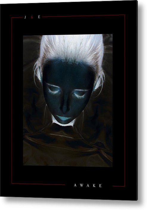 Girl Metal Print featuring the photograph Awake by Jonathan Ellis Keys