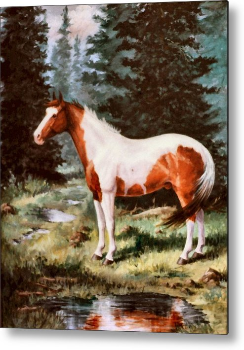 Paint Metal Print featuring the painting Ben Spooken Lupe  Paint Horse by JoAnne Corpany