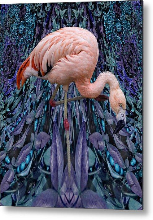 Bird Metal Print featuring the digital art Blueberry Bird by Chuck Brittenham